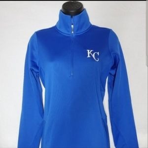 Kansas City Royals Nike Blue Quarter Zip